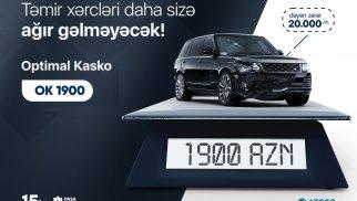 """PAŞA Sığortadan bazar dəyəri yüksək olan avtomobillər üçün """"OK 1900"""" məhsul paketi"""