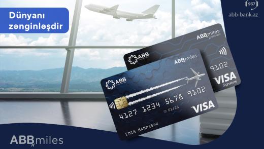 ABB Miles indi Visa kartları ilə